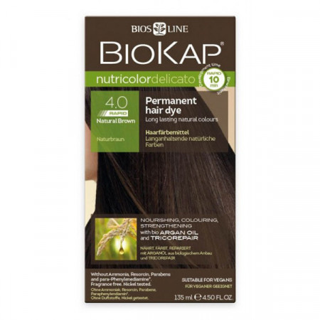 BIOKAP Delicato Rapid farba za kosu 4.0 braon 135ml