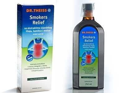 SMOKERS RELIEF sirup 250ml