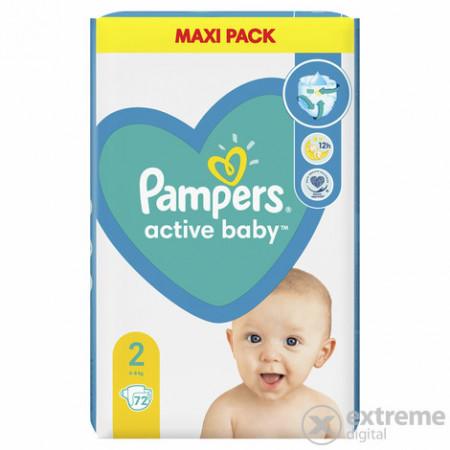 PAMPERS pelene active baby 2 maxi pack (4-8kg) 72 komada