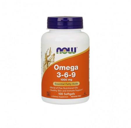 NOW Omega 3-6-9 1000mg 100 kapsula