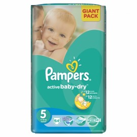 Slika PAMPERS pelene 5 GIANT PACK JUNIOR (11-18kg) 64 komada