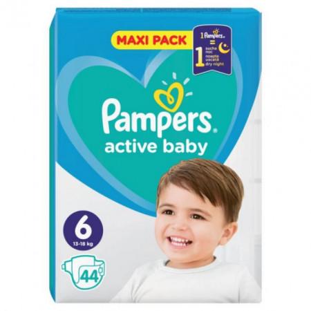 PAMPERS pelene active baby 6 maxi pack (13-18kg) 44 komada
