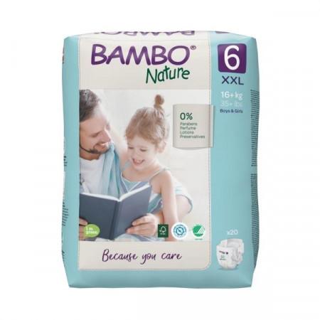 BAMBO Nature 6 XXL 16-30kg - 20 pelena