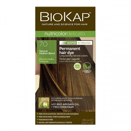 BIOKAP Delicato Rapid farba za kosu 7.0 sredje plava 135ml