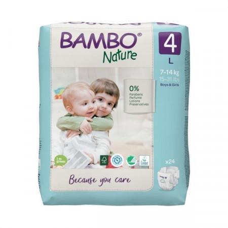 BAMBO Nature 4 Maxi 7-18kg - 24 pelene
