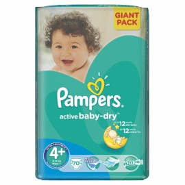 Slika PAMPERS pelene 4+ MAXI PLUS GIANT PACK (9-16kg) 70 komada