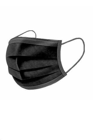 Hirurške maske za odrasle crne (10 komada)