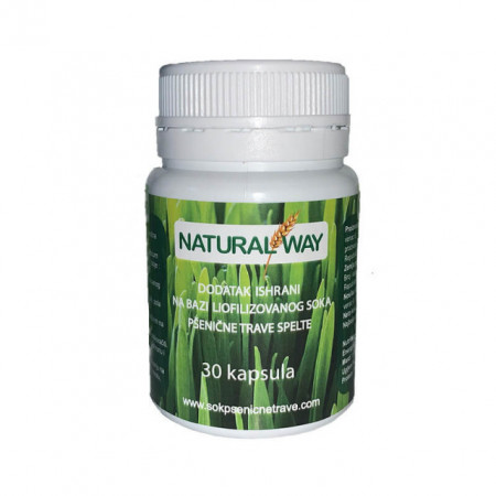 Natural Way Sok od pšenične trave u kapsulama 30x