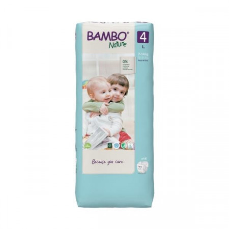 BAMBO Nature 4 Maxi 7-18kg - 48 pelena