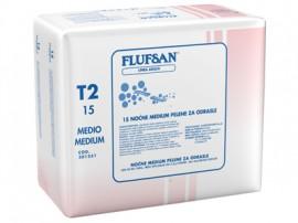 """FLUFSAN NOCNE pelene MEDIUM (40-70kg) """"super"""" 15 kom"""