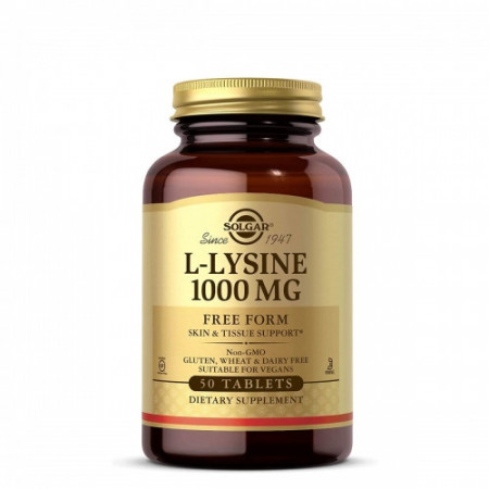 SOLGAR L-LIZIN 1000mg 50 tableta