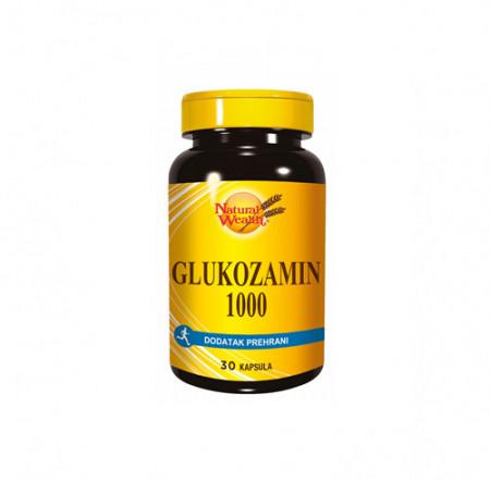 NATURAL WEALTH GLUKOZAMIN SULFAT 1000 30 kapsula