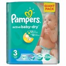 PAMPERS pelene 3 MIDI GIANT PACK (4-9kg) 90 komada