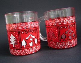 Poze Cani pt. ceai - Red Christmas