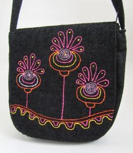 Poze Geanta rotunda - Happy flowers