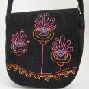 Geanta rotunda - Happy flowers