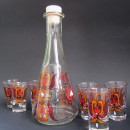 Set de pahare de tuica cu decanter - Beautiful tulips