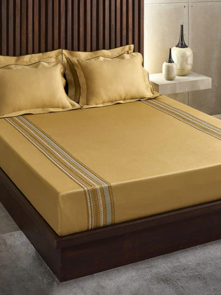 EXCELLENCE EMBRODIERY KING SIZE BEDSHEET BY D-DECOR MANY OTHER DESIGNS AVAILABLE AT OUR SHOWROOM