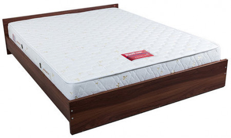 "Kurlon Bounty Hr Foam Mattress 6"" With 5 Years Warranty with white jacquard quilt"