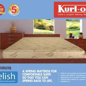 "KURLON RELISH POCKET SPRING MATTRESS 6"" WITH 5 YRS WARRANTY"