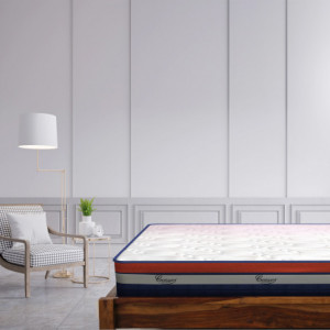 "Centuary Neofit Pocket Spring Mattress 8"" with CNC Contour foam, & Memory Foam 10 Years Warranty"