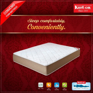 "KURLON CONVENIO 4"" BONDED FOAM WITH MEMORY FOAM & 5YRS WARRANTY"