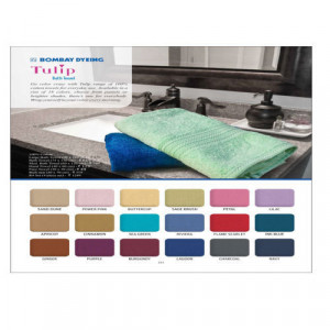 Bombay Dyeing Tulip Bath Towel Size 75 X 150 all colour available