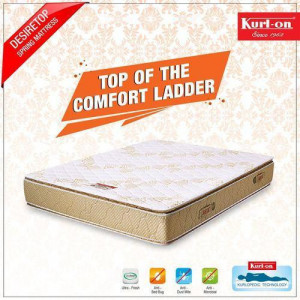 "Kurlon Desiretop Spring Matfresses 6+2 "" with Both Side Pillow Top & 10 years warranty"
