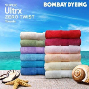 Bombay Dyeing ultrax zero twist Bath Towel Size 75 X 150 all colour available