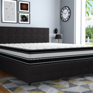 "Centuary Infinity 10"" Pocket spring PillowTop Memory Foam & latex Mattress with 10 Years warranty"