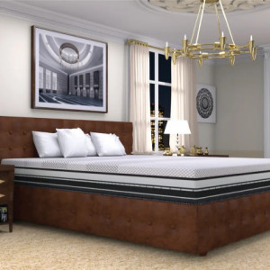 "Centuary Engima Bonded Foam Mattress 8"" With Gel Memory Foam and latex foamwith 10 years warranty"