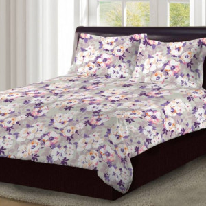 Bombay Dyeing Double Bed size 100% Cotton bedsheet King size
