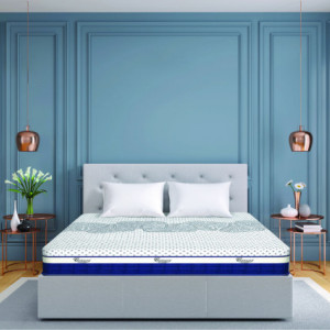 "Centuary Hexa Pocket Spring Mattress 8"" with CNC Contour foam, latex foam & Memory Foam 10 Years Warranty"