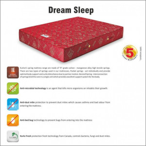 "Kurlon Dreamsleep Bonnel Spring Mattress 6"" With 5 Years Warranty"