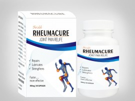 Rheumacure Capsules - Joint Pain, Arthritis, Rheumatism, Inflammation, Rheumatoid, Lower Back Pain, Leg Pain, Muscle Pain, Anti inflamatory, Herbal Supplements, Dietary Supplements images