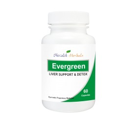 Evergreen Capsules - Alcoholic Liver, Cirrhosis of the Liver, Jaundice, Fatty Liver, Indigestion, Liver disease, Herbal Supplements, Dietary Supplements images