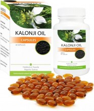 Kalonji Oil Capsules - Nigella Sativa, Black Seed Oil, Herbal Supplements, Dietary Supplements