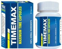 Timemax (60 Capsules) - Last Longer in Bed, Sex Time, Aphrodisiac, Good Time Max, Mens Health, PE, ED, Premature Ejaculation, Erectile Dysfunction, Sexual Health, Herbal Supplements, Dietary Supplements