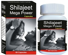 Shilajit Mega Power(60 Capsules)  - Shilajit, Health, Aphrodisiac, Mens Health, Stamina, Natural Energy boosters, Stress, Libido, Herbal Supplements, Dietary Supplements