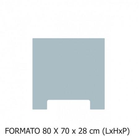 80X70X28 cm (LxHxP)