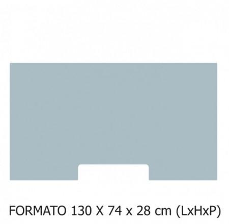 130x74x28 cm (LxHxP)