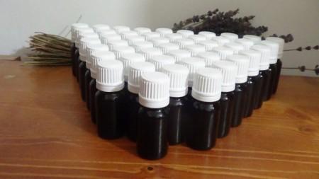 50 flaconi marrone da 10 ml con olio essenziale lavanda lavandino puro 100% raccolto 2021 senza etichetta