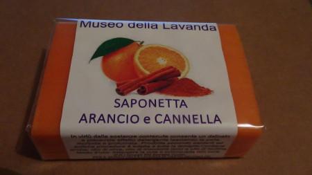 sapone artigianale cannella arancio 100gr made in Italy