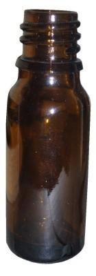 5 flaconi vuoti color ambra 10 ml con tappo bianco e contagocce