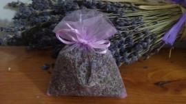 5000 sacchetti di organza con lavanda lilla 9x12 cm