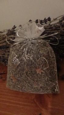 sacchetto lavanda in organza color ghiaccio natalizio 10x13 cm circa