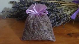 sacchetto di organza con lavanda lilla 10x13 cm