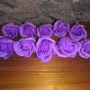 10 fiori di sapone a forma di rosa fragranza lavanda