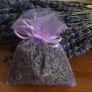50 sacchetti di organza con lavanda lilla 9x12 cm
