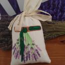 sacchetto cotone ricamato con circa 70 gr di lavanda mazzo di lavanda appeso
